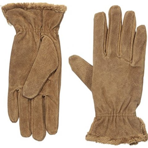 Shell: 100% Other Fibers; Lining: 95% Polyester/5% Spandex Imported Dry Clean Only Soft gloves featuring side slits at wrist for full range of motion and plush lining for warmth Made in China - 1