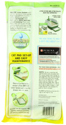 Each pack includes 4 cat pads Breeze Pads absorb urine underneath the Breeze System Easy to maintain and odor-free - 2