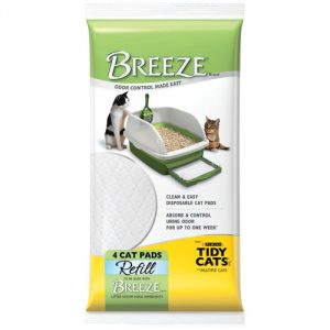 Each pack includes 4 cat pads Breeze Pads absorb urine underneath the Breeze System Easy to maintain and odor-free - 1