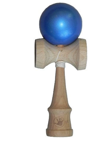 Standard kendama size and weight Cool blue metallic paint finish Made of high quality beech wood Replacement string and bead pack with every purchase Designed for children 12+ - 2