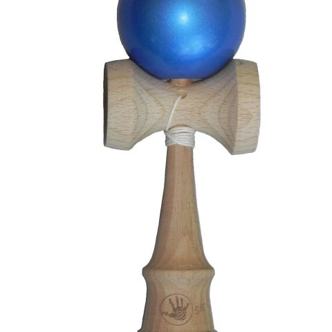 Standard kendama size and weight Cool blue metallic paint finish Made of high quality beech wood Replacement string and bead pack with every purchase Designed for children 12+ - 1