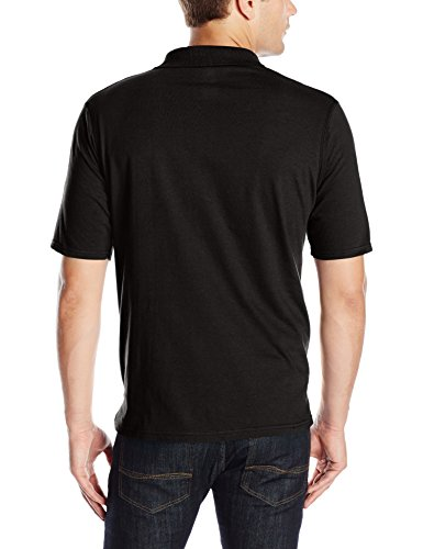 10% polyester Imported Machine Wash Short-sleeve polo with three-button placket and tag-free labeling Hanes X-Temp technology dries faster as body heat rises