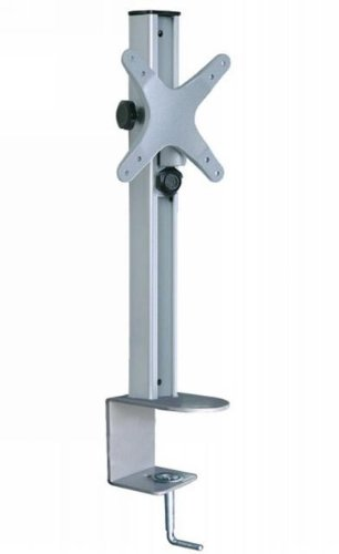 Fits 13 to 24 inch Flat Panel Tvs Vesa 75mm and 100mm mounting pattern Adjustable height up to 14 inch Tilting capable up to -/+ 15 degrees angle Desktop Mount Swiveling capable for better viewing angle - 1