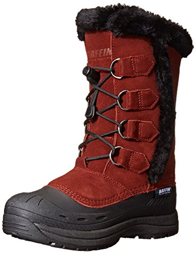 "Leather Imported Rubber sole Shaft measures approximately 10"" from arch Boot opening measures approximately 13"" around Insulated boot featuring D-ring lacing with drawstring toggle closure and faux fur-trim Logo embroidered on tongue - 1"
