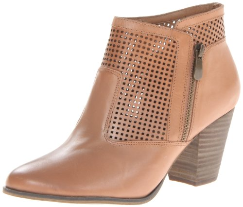 "Size - Women's - 10 M(B) US Leather Imported Synthetic sole Shaft measures approximately 5"" from arch Heel measures approximately 2.5"" Boot opening measures approximately 10"" around Perforations open up the feel of this compact bootie from Bella Vita. - 1"