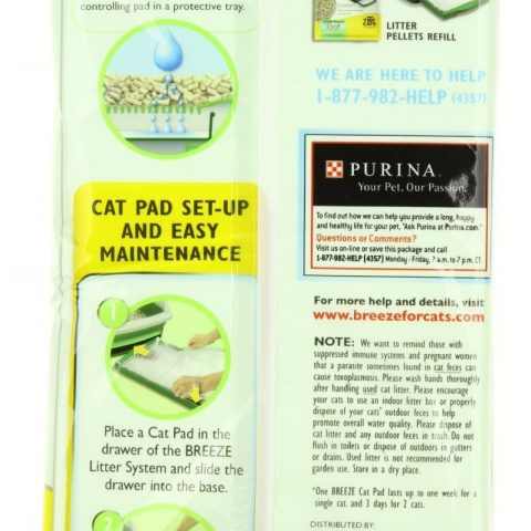Each pack includes 4 cat pads Outstanding odor control for up to one week Breeze Pads absorb urine underneath the Breeze System Quick and easy removal of wastes - 1