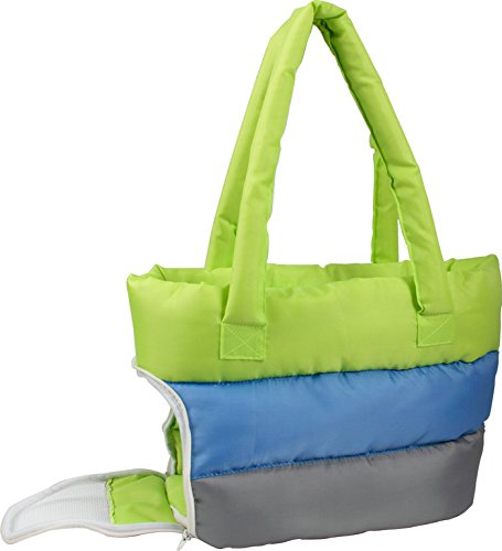 Thick polyester outer lining with thick polyfill for added insulation Built-In leash holder Zippered side mesh entrance Comes with thick insert able pad Zippered top closures - 1