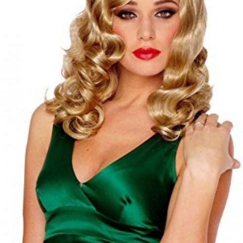 100% Other Fibers Imported Hand Wash Long women's wig with large finger waves Retro glamour's style wig - 1