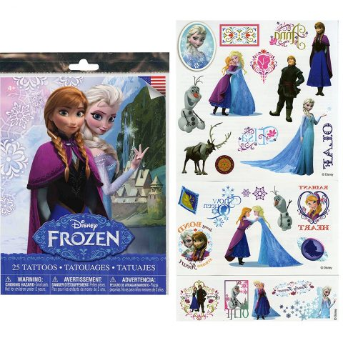 Disney Frozen 25 Tatoos (Includes Princess Anna