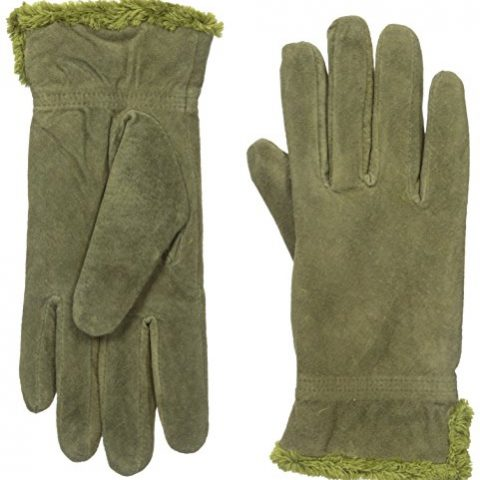 Size - Medium Shell: 100% Other Fibers; Lining: 95% Polyester/5% Spandex Imported Dry Clean Only Soft gloves featuring side slits at wrist for full range of motion and plush lining for warmth - 1