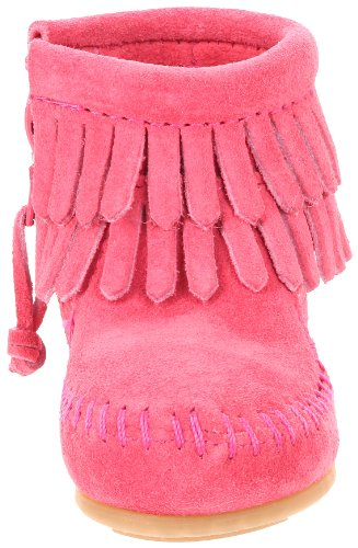 Size - Girl's (Child) - 3 M US Leather Rubber sole Leather bootie with fringe shaft and side zipper Padded insole Lightweight rubber outsole - 2