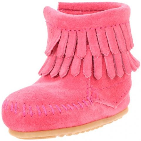 Size - Girl's (Child) - 3 M US Leather Rubber sole Leather bootie with fringe shaft and side zipper Padded insole Lightweight rubber outsole - 1