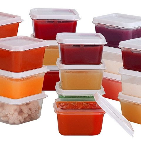 """VALUE PACK - Set of 20 round """"mini storage containers"""" for dips"""