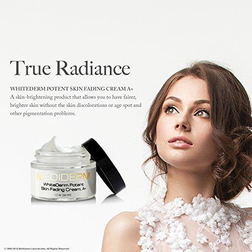 Mediderm WhiteDerm Potent Skin Fading Cream, A+ Murad Clarifying Wipes for BlemishProne Skin 30 Wipes