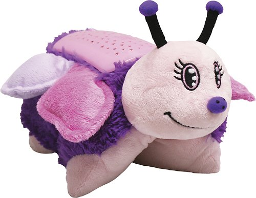 """Pillow Pets Dream Lites - Pink Butterfly 11"""" Plastic Imported Includes: Fluttery Butterfly Dream Lites Pillow Pet Dimensions: Approximately 11"""" Requires 3 AAA Batteries or 4.5V DC Adaptor (Not Included) 20 minute sleep timer option Ages 3+ - 1"""