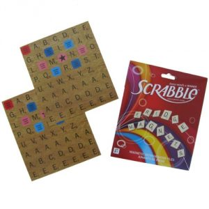 Triple Word and Double Word tiles. Now you can write messages on your fridge and score points. These refrigerator magnets are a great gift. You can even take them down from the fridge and play Scrabble with them! - 1