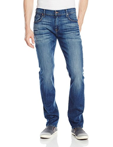 Size: 32 50% Cotton/42% Lyocell/6% Polyester/2% Spandex Made in the USA or Imported Button closure Machine Wash Five-pocket jean in medium wash featuring contoured waistband and fading at front - 1