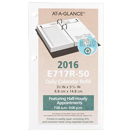 At A Glance Daily Desk Calendar 2016 Refill 12 Months