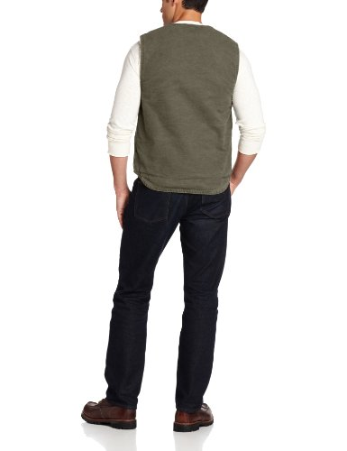 Size - Men's - XXX-Large 100% Cotton Imported Machine Wash Sherpa-lined vest with zip front featuring split kangaroo pockets with patch logoing - 2