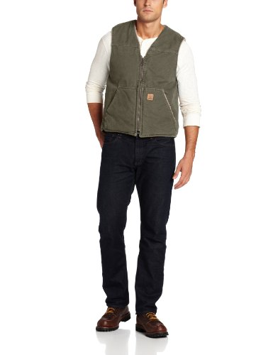 Size - Men's - XXX-Large 100% Cotton Imported Machine Wash Sherpa-lined vest with zip front featuring split kangaroo pockets with patch logoing - 1
