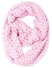 100% Polyester Caramel Cantina Brand Sheer Infinity Chevron Scarf 19 inches wide (approx.) 60 inches total loop (approx.) Comes in a variety of cool colors. Light Weight Semi Sheer Fabric - 1