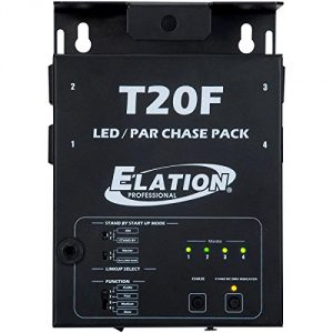 4 channel chaser with a foot switch and 16 selectable chase programs foot controller allows the user to go full on