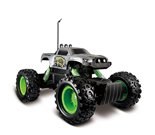 Two motors and low gearing make for rugged off-road action Articulated front and rear suspension 6AA for the vehicle (Not included) and 2 AAA (Not included) for the controller