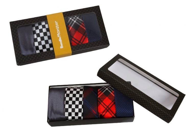 """Stripes Necktie Tie Mixed Set 5 - Skinny Tie 2"""" Wide Fashionable and handmade mens necktie selection are made of 100% polyester. Each set is packaged in a black """"BM"""" box - Great for giving as a gift! Can be used for formal or casual events or spruce up your every day"""