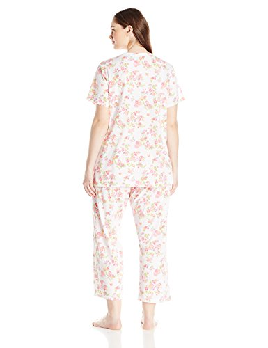 contents undamaged. 100% Cotton Imported Machine Wash Two-piece sleep set featuring short-sleeve top with single-chest pocket and matching drawstring-waist pant Made in Malaysia - 1