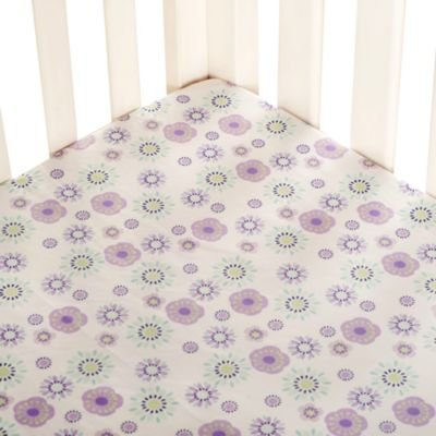 """This charming Zoo Garden Fitted Crib Sheet from Carter's features a colorful allover floral print Fully elasticized for a secure fit Measures 28"""" W x 52"""" L 100% Cotton"""