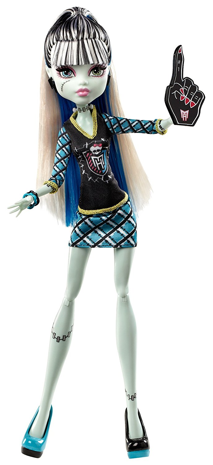 The Ghouls Of Monster High Are Showing Their School Spirit Frankie Stein Doll Is Her