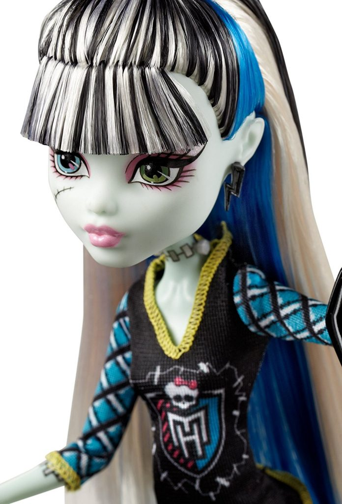 The Ghouls of Monster High are showing their school spirit Frankie Stein doll is showing her monster spirit with a giant sports hand Decked out in schoolgirl plaid and the Monster High logo Doll is fully articulated so they can be posed in many different ways Includes doll and spirit-themed outfit - 3