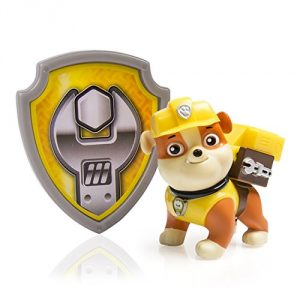 Action Pack Pup Rubble makes an incredible transformation as his Pup Pack unleashes a heavy-duty construction digger! Now you can become a heroic Member of the Paw Patrol when you wear the official Rubble Construction Badge that's included! Collect each loveable Action Pack Pup and work together as a team! Chase