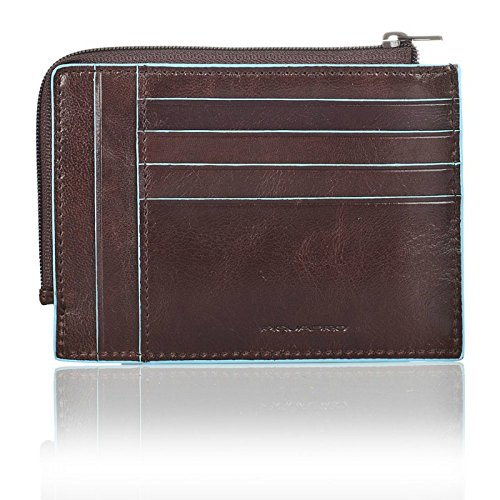"""Leather Imported Textile lining Zipper closure 3.75"""" high 5"""" wide Soft and horizontal construction with zip - 2"""