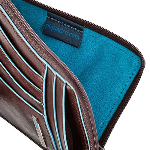 """Leather Imported Textile lining Zipper closure 3.75"""" high 5"""" wide Soft and horizontal construction with zip - 3"""