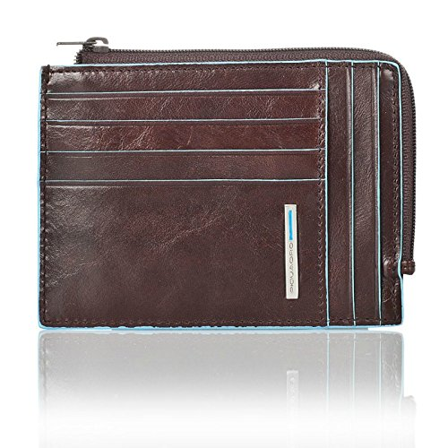 """Leather Imported Textile lining Zipper closure 3.75"""" high 5"""" wide Soft and horizontal construction with zip - 1"""