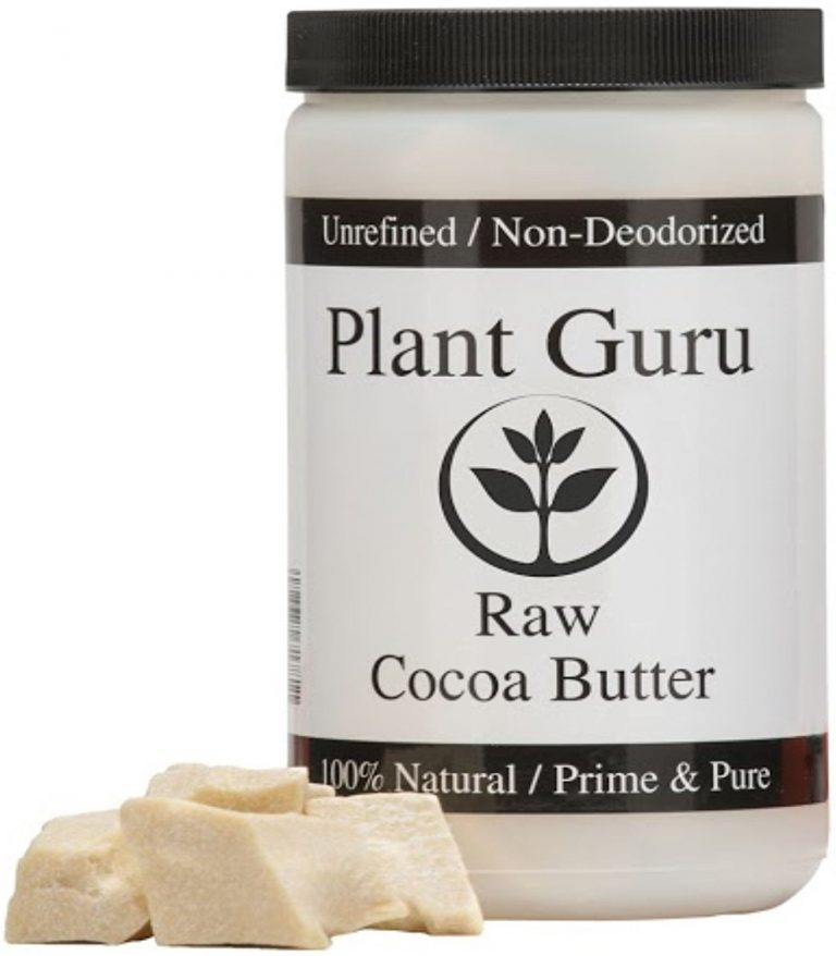 "Plant Guru Cocoa butter is PACKAGED IN HDPE FOOD GRADE JAR WITH ""SCREW CAP"" TO ENSURE FRESHNESS... NET WEIGHT 1 pound Antioxidants:Cocoa has more antioxidant flavonoids than any food tested so far"