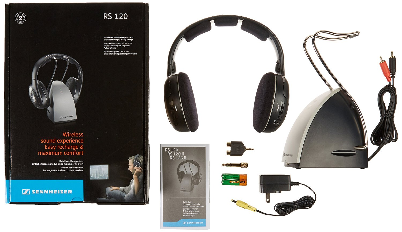 sennheiser rs120 on ear wireless rf headphones with charging dock rh goodworlddeals com sennheiser srs headphones manual sennheiser bluetooth headphones manual