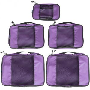 contents undamaged. 2014 VERSION - 5 Piece Weekender Plus Packing Cube Set (1 Small