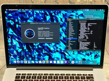 Item Specifics: MPN : MC976LL/AUPC : NABrand : AppleProduct Family : Macbook ProRelease Year : Mid 2012Screen Size : 15 inProcessor Type : Intel Core i7Processor Speed : 2.6 GhzMemory : 16 GBStorage : 768 GBOperating System : macOS 10.15